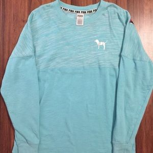 PINK Victoria's Secret Tops - Pink long sleeve size S oversized